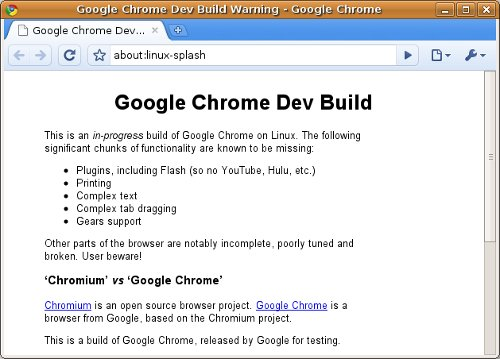 google-chrome-dev-build